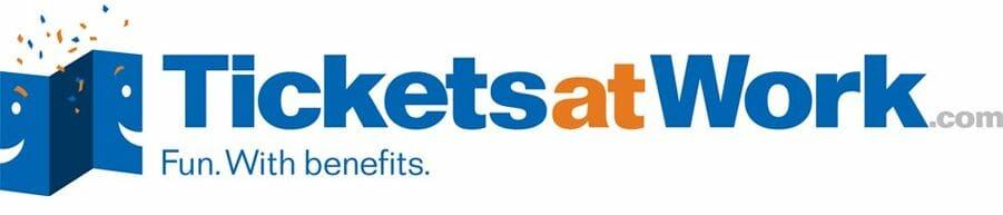 TicketsatWork.com Fun. With benefits. logo