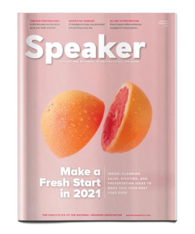 Cover of Speaker magazine 2021 issue