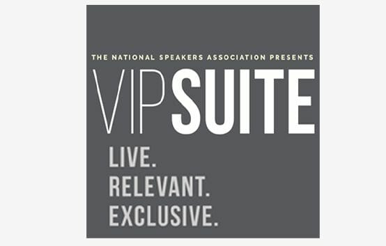 The National Speakers Association Presents VIPSUITE Live. Relevant. Exclusive. logo
